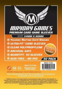 Sleeves Mayday 54x80mm PREMIUM - Yucatan Narrow