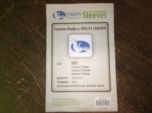 Sleeves Swan Panasia Games - Custom para Ora Et Labora