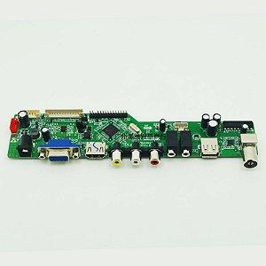 KIT Controladora universal GT_v56j  para telas de LCD e Leds