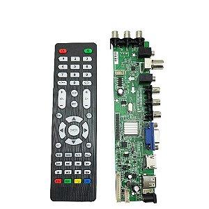 Placa de Tv Lcd Led Universal com TV Digital V56.LC