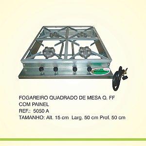 Fogareiro Quad. de Mesa 4 Bocas 4 Caulins  Metal Fogoes
