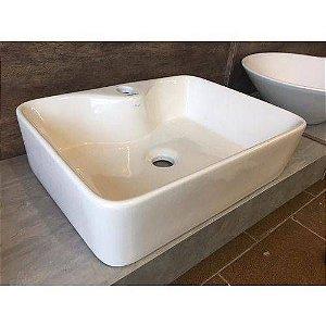 Cuba De Apoio Porcelana Cerâmica Branca Para Banheiro MP 1507 Manplex