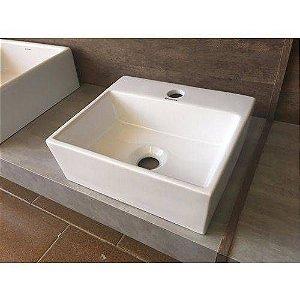 Cuba De Apoio Porcelana Cerâmica Branca Para Banheiro MP 8107 Manplex
