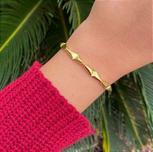 Pulseira bracelete ondulado