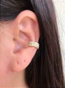 Piercing de pressão bolinhas cravejado zirconia cristal banhado a Ouro 18K