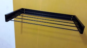 Varal Pratic de 120cm  Cor Preta