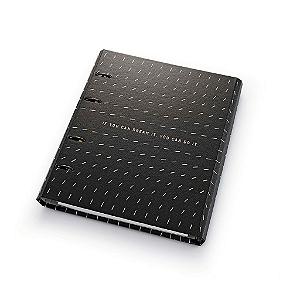 Caderno Argolado Fichário Ótima Gráfica FC177 Noir Traço 21x25cm 4635-4