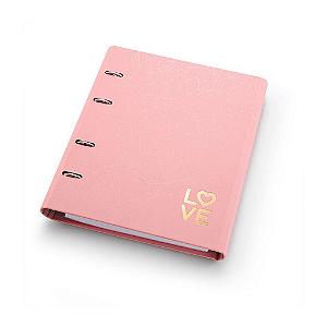 Caderno Argolado Fichário Ótima Gráfica FC177 Pink Stone Geométrico 21x25cm 4501-2
