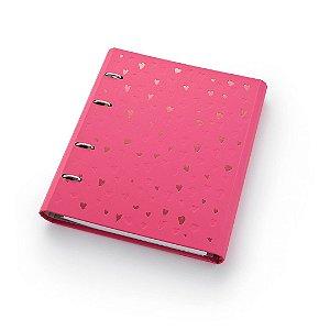 Fichário Caderno Argolado FC177 Romantic Rosa Ótima Gráfica 4588-3
