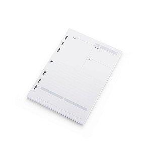 Refil Planner Maxi Ótima Gráfica Agenda Permanente 12,5x20cm 4870-9