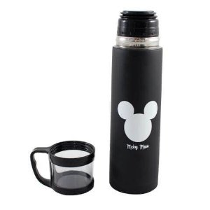 Garrafa com Tampa Xícara 500mL Mickey Logo