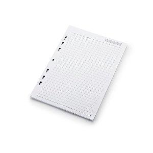 Refil Fichário Caderno Argolado Ótima Gráfica Pautado 50 folhas 16,7x24cm 4686-6