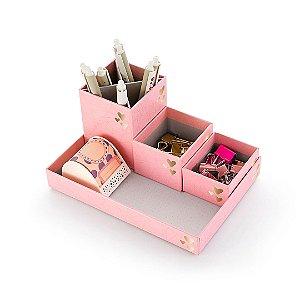 Bandeja Organizadora Pink Stone Geométrico Box in Box 4550-0