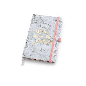 Caderno Papertalk Maxi Pautado Pink Stone Mármore Ótima Gráfica 4510-4