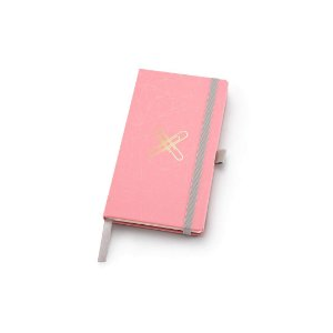 Caderneta Papertalk Slim Pontilhado Pink Stone Geométrico Ótima Gráfica 4509-8