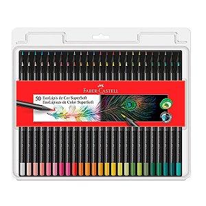 Lápis de Cor Faber Castell 50 Cores Supersoft
