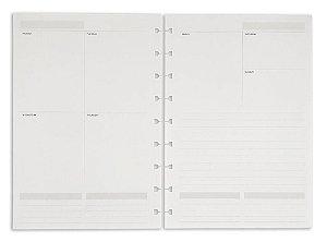 Refil Planner Maxi SystemFlex Agenda Permanente Ótima Gráfica 6019-0