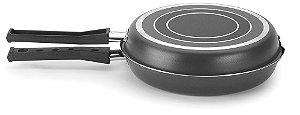 Frigideira Dupla 24cm Preta Gourmet Multiflon