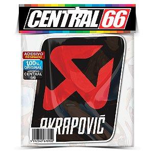 Adesivo Resinado Akrapovic - Logo com escrita