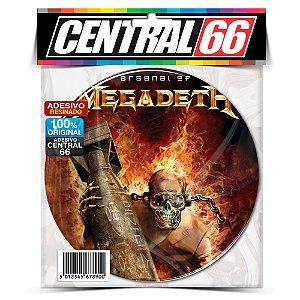 Adesivo Resinado Redondo Arsenal of Megadeth Fogo
