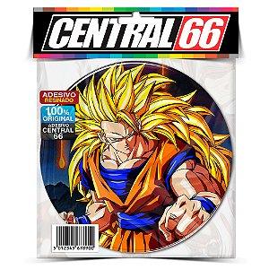 Adesivo Resinado Redondo Dragon Ball - Goku