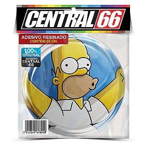 Adesivo Resinado Redondo Simpsons - Homer Azul - Uhum