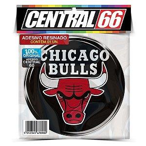 Adesivo Resinado Redondo Time - Chicago Bulls