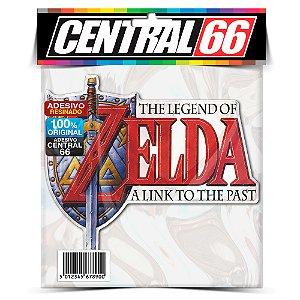 Adesivo Resinado Zelda - Logo escrita vermelha
