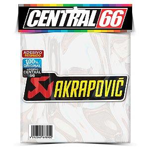 Adesivo Resinado Akrapovic - Retangular (Escrito Largo)