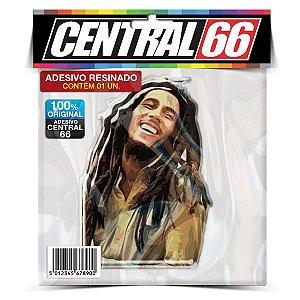 Adesivo Resinado Bob Marley - Cabelos Solto Colorido