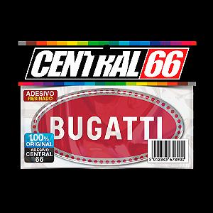 Adesivo Resinado Buggatti Bugati Oval Vermelho