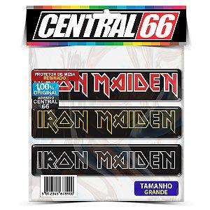 Adesivo Resinado Iron Maiden - 3x Iron Retangular (20cm)