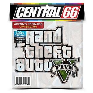 Adesivo Resinado GTA V - Logo com Escrita