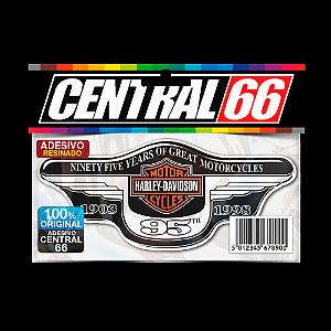 Adesivo Resinado Harley - 95th - Prata