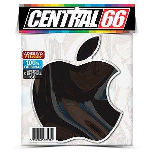 Adesivo Resinado Marca Maça Apple (Preto)