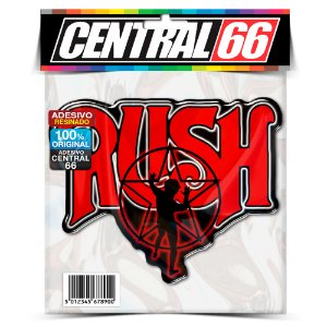 Adesivo Resinado Musica Rush Pentagrama