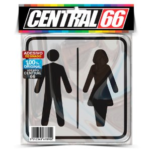 Adesivo Resinado Placa - Banheiro Homem + Mulher