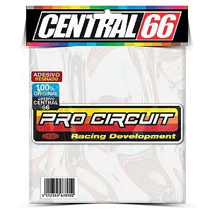 Adesivo Resinado Pro Circuit - Retangular Vermelho/Amarelo