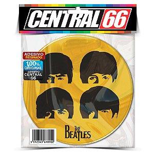 Adesivo Resinado Redondo Beatles Cabeças
