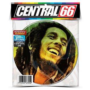 Adesivo Resinado Redondo Bob Marley