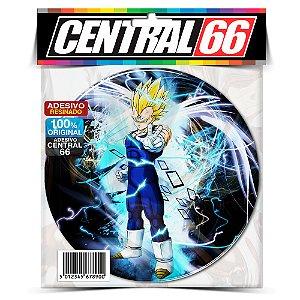 Adesivo Resinado Redondo Dragon Ball - Azul