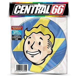 Adesivo Resinado Redondo Jogo Fallout