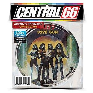 Adesivo Resinado Redondo Kiss (Love gun)
