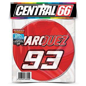 Adesivo Resinado Redondo Marc Marquez 93 Vermelho