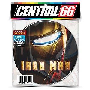 Adesivo Resinado Redondo Marvel - Iron Man Filme