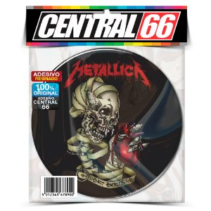 Adesivo Resinado Redondo Metallica - Caveira