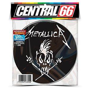 Adesivo Resinado Redondo Metallica - Caveira Palito