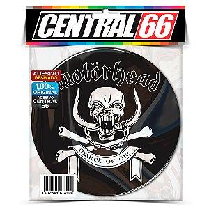 Adesivo Resinado Redondo Motorhead - Caveira