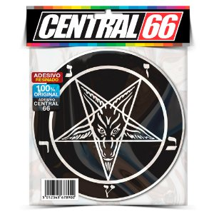 Adesivo Resinado Redondo Pentagrama