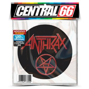 Adesivo Resinado Redondo Pentagrama - Anthrax